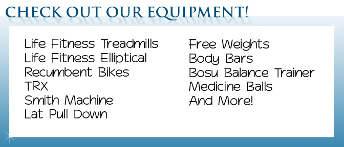 St. Clair Fitness Center Equipment List